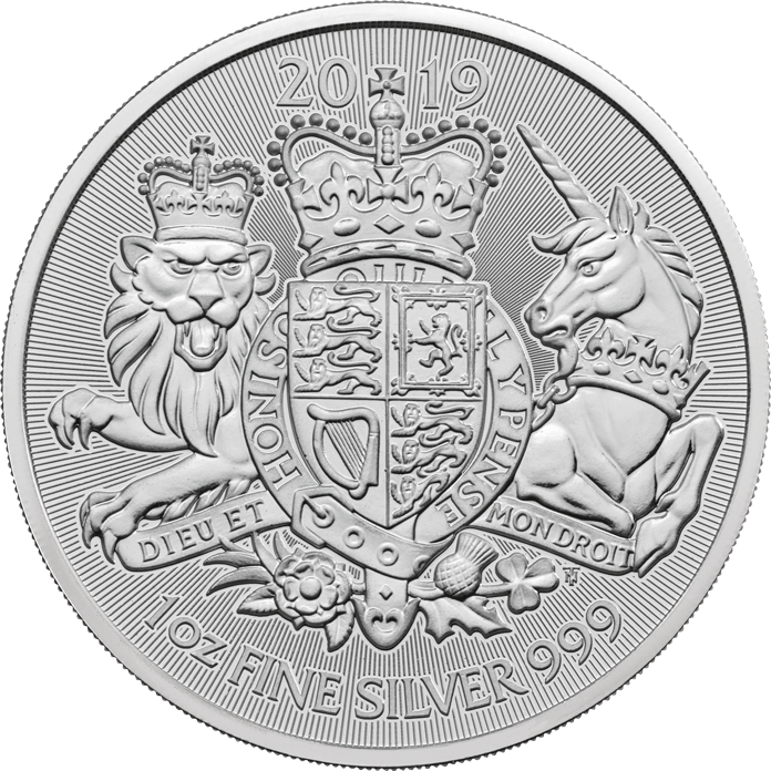 The Royal Arms 2019 1 oz Silver Twenty-Five Coin Tube