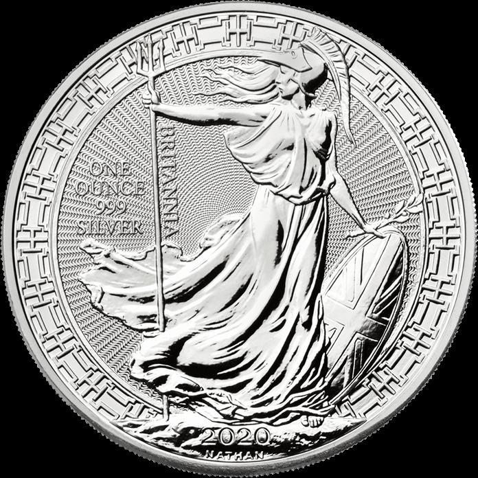 Britannia 2020 Oriental Border  Silver 1 oz Coin
