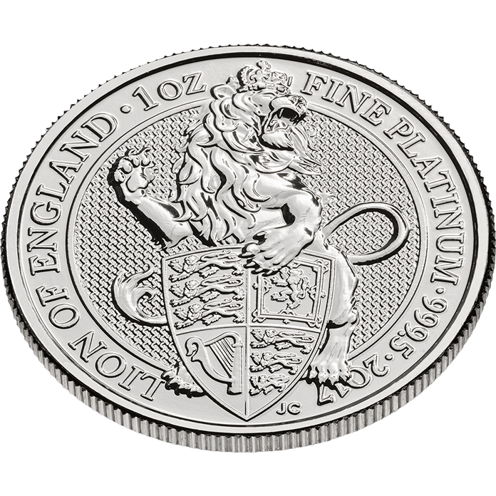 The Queen's Beasts 2017 The Lion 1 oz Platinum Coin
