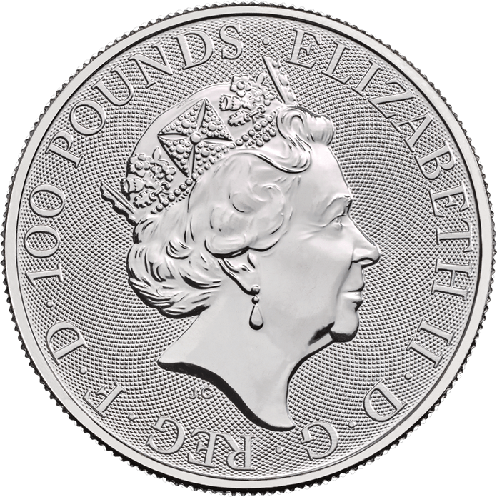 The Queen's Beasts 2020 Yale of Beaufort 1 oz Platinum Coin
