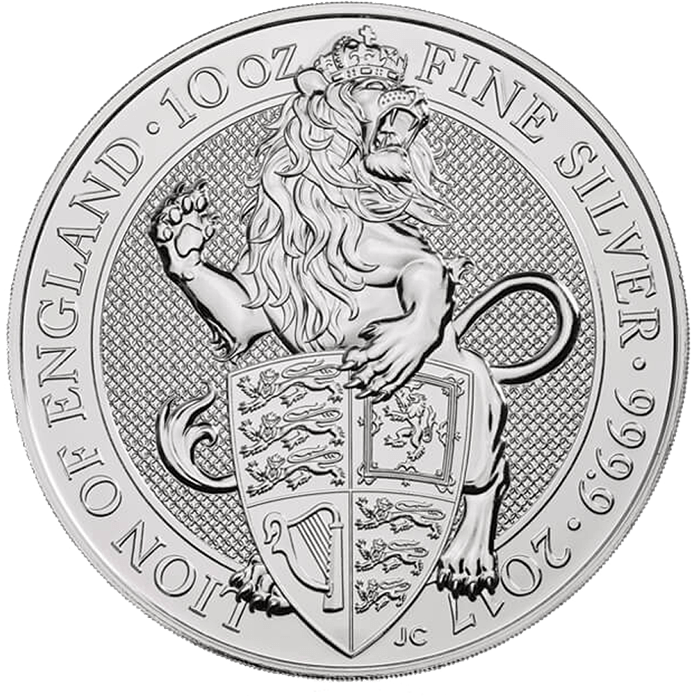 The Queen's Beasts 2017 The Lion 10 oz Silver Coin