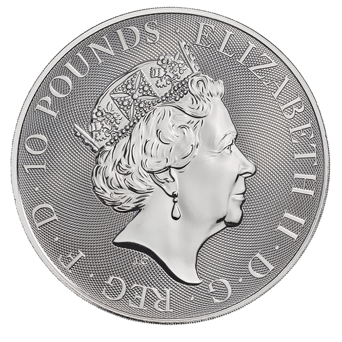 The Queen's Beasts 2019 Unicorn 10 oz Silver Coin