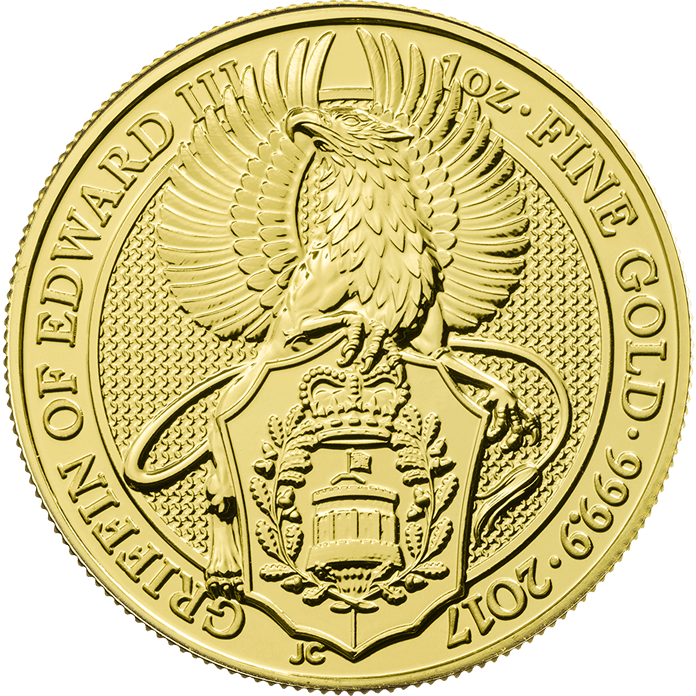 The Queen's Beasts 2017 The Griffin 1 oz Gold Ten Coin Tube