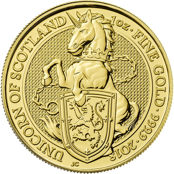 The Queen's Beasts 2018 The Unicorn 1 oz Gold Ten Coin Tube