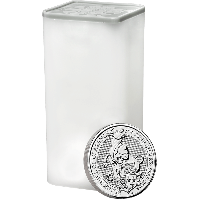 The Queen's Beasts 2018 Black Bull 2 oz Silver Ten Coin Tube