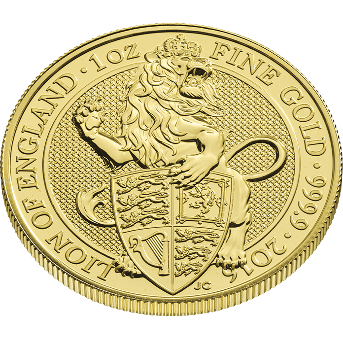 The Queen's Beasts 2016 The Lion 1 oz Gold Coin