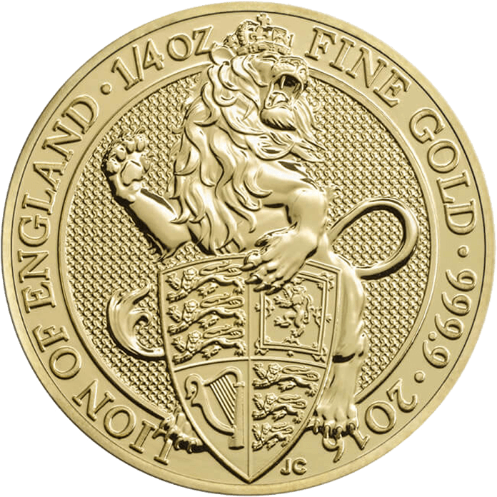 The Queen's Beasts 2016 The Lion 1/4 oz Gold Coin