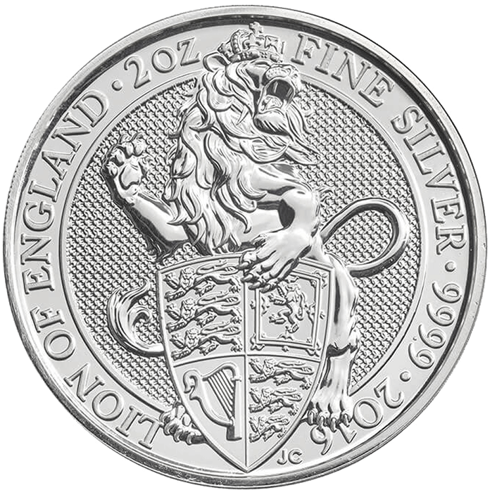 The Queen's Beasts 2016 The Lion 2 oz Silver Coin