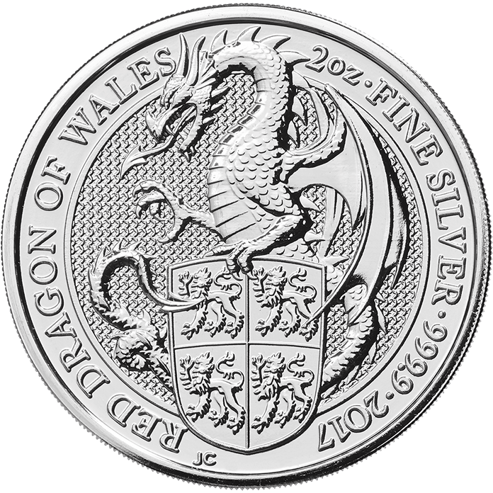 The Queen's Beasts 2017 The Dragon 2 oz Silver Coin