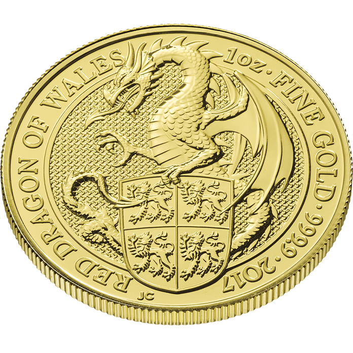 The Queen's Beasts 2017 The Dragon 1 oz Gold Coin