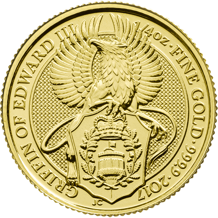 The Queen's Beasts 2017 The Griffin 1/4 oz Gold Coin