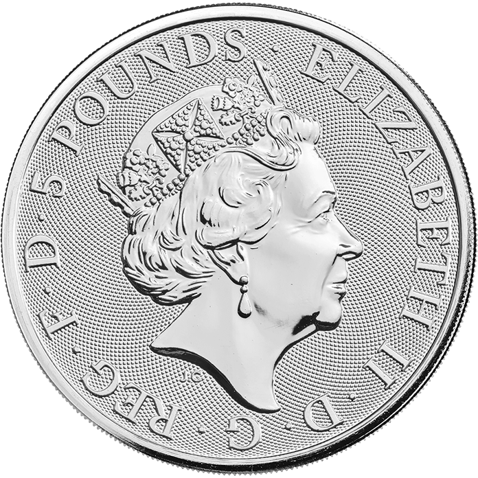 The Queen's Beasts 2018 Black Bull 2 oz Silver Coin