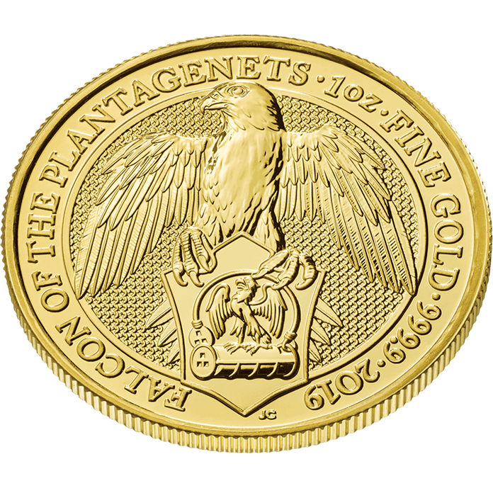 The Queen's Beasts 2019 Falcon 1 oz Gold Coin