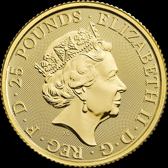 The Queen's Beasts 2019 Falcon 1/4 oz Gold Coin