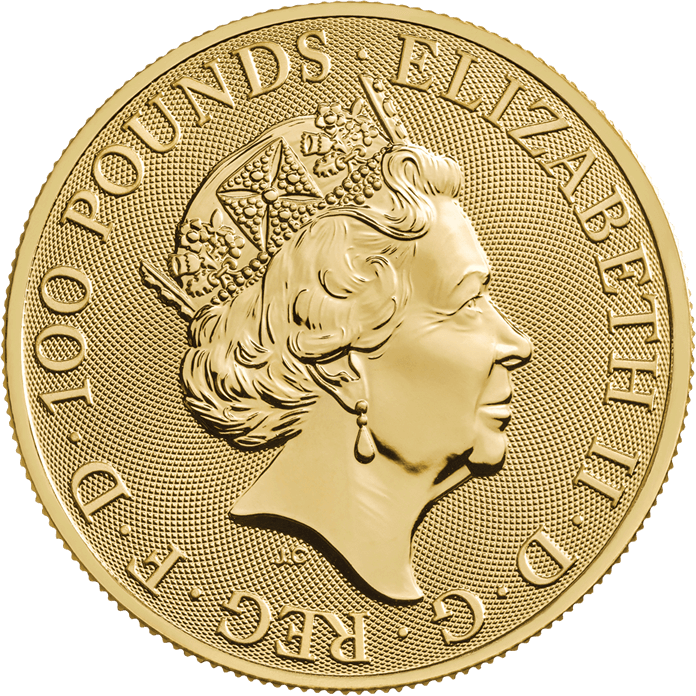The Queen's Beasts 2019 The Yale 1 oz Gold Ten Coin Tube
