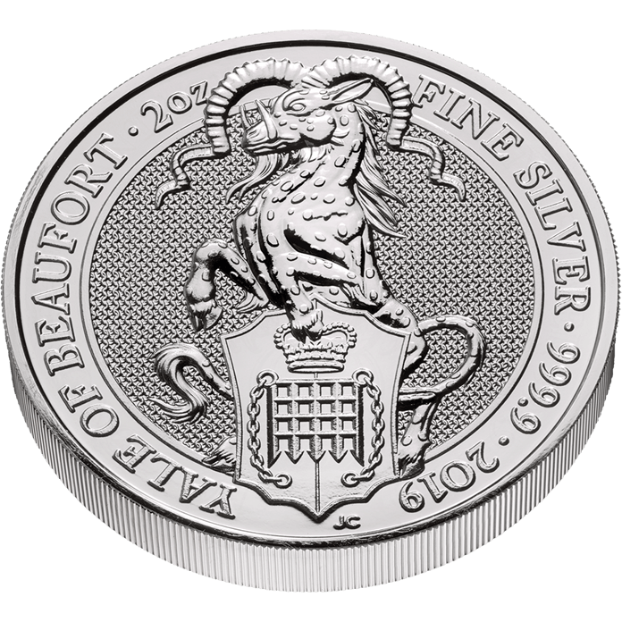 The Queen's Beasts 2019 The Yale 2 oz Silver Coin