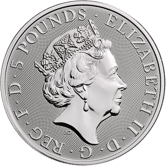 The Queen's Beasts 2019 The Yale 2 oz Silver Ten Coin Tube