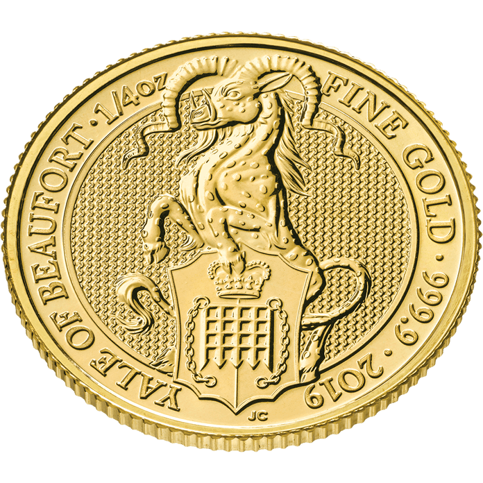 The Queen's Beasts 2019 The Yale 1/4 oz Gold Coin