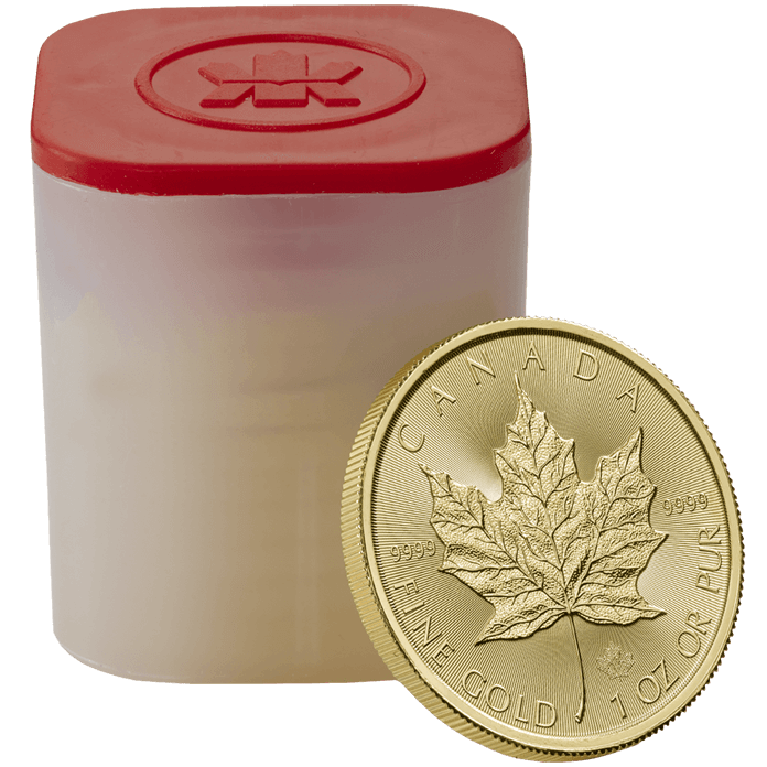 Canadian Maple Leaf 2017 1 oz Gold Ten Coin Tube