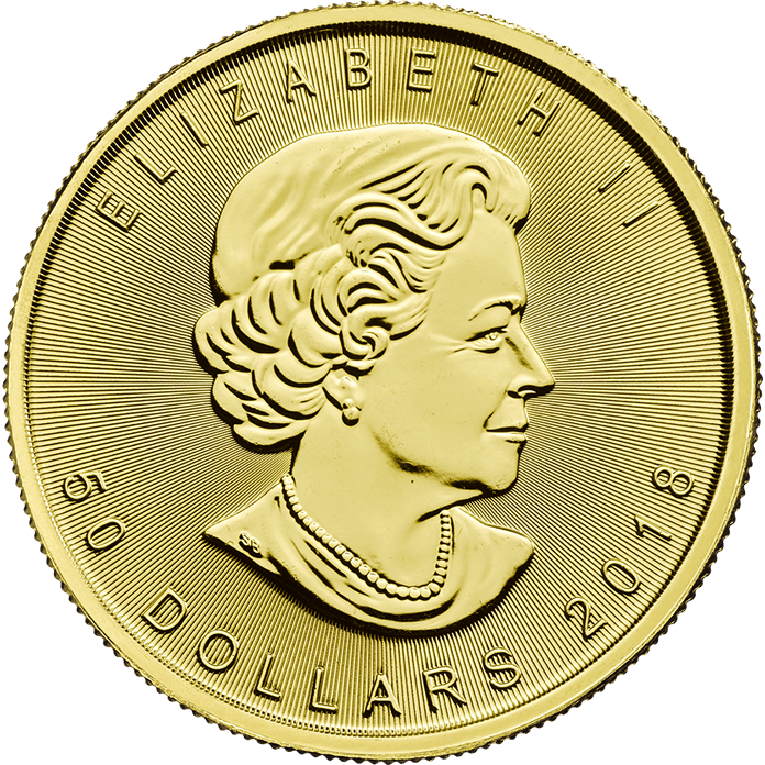 Canadian Maple Leaf 2018 1 oz Gold Coin