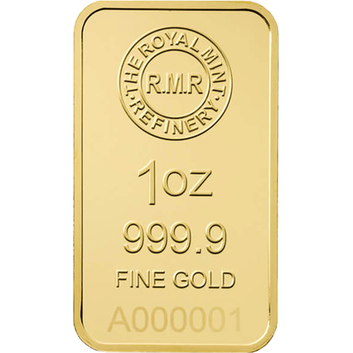 1 oz Gold Bar Minted