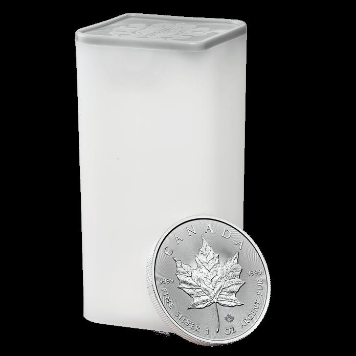 Canadian Maple Leaf 2018 1 oz Silver Twenty Five Coin Tube