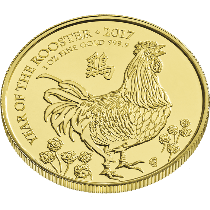 Lunar 2017 Year of the Rooster 1 oz Gold Coin