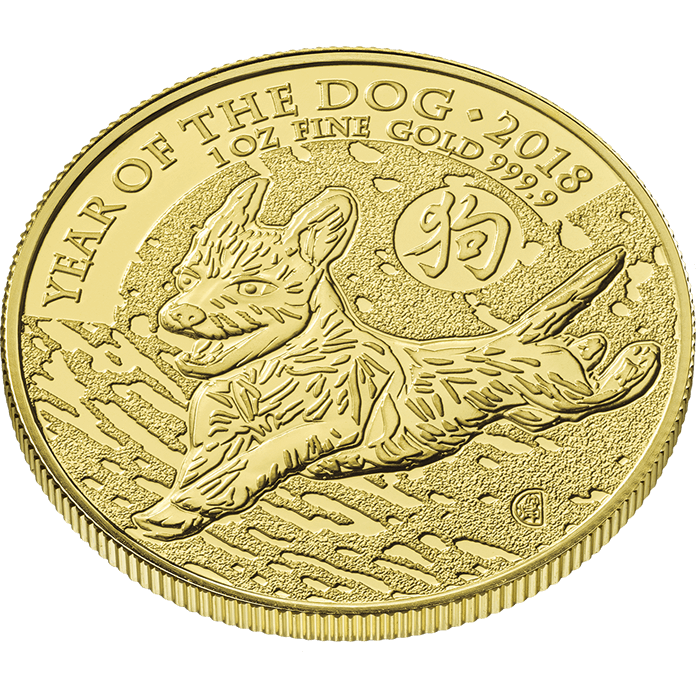 Lunar 2018 Year of the Dog 1 oz Gold Coin