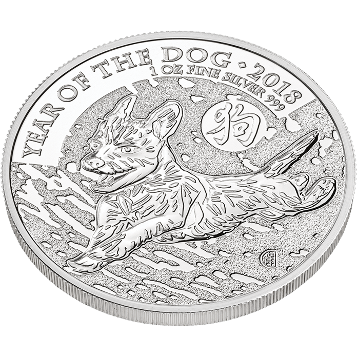 Lunar 2018 Year of the Dog 1 oz Silver Coin