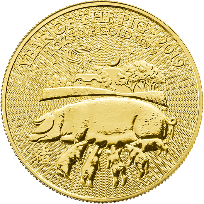 Lunar 2019 Year of the Pig 1 oz Gold Coin
