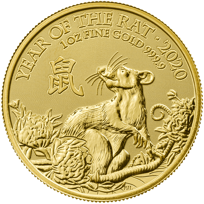 Lunar 2020 Year of the Rat – 1 oz Gold Coin