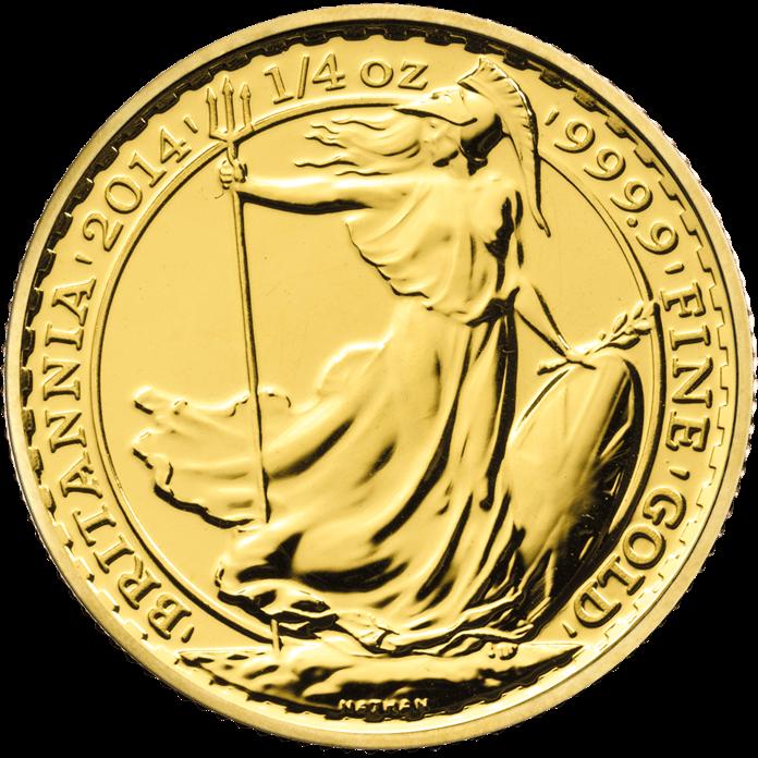 Britannia 2014 1/4 oz Gold Twenty Five Coin Tube