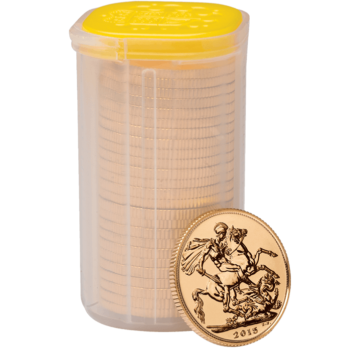 The Sovereign 2014 Gold Twenty Five Coin Tube