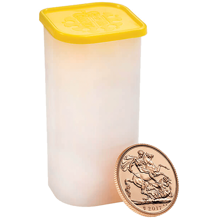 The Sovereign 2017 Gold Twenty Five Coin Tube