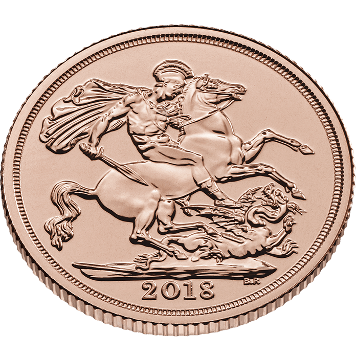 The Sovereign 2018 Gold Twenty Five Coin Tube