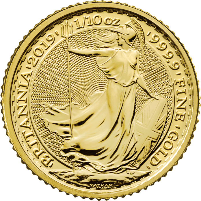 Britannia 2019 1/10 oz Gold Coin