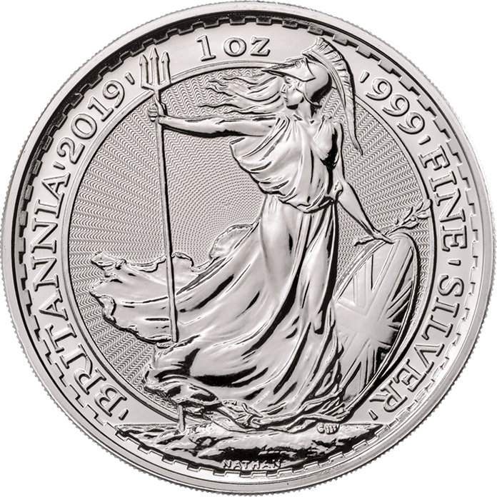Britannia 2019 1 oz Silver Twenty Five Coin Tube