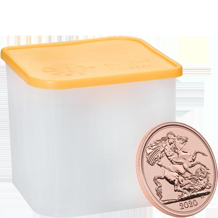 The Double Sovereign 2020 Gold Bullion Fifteen Coin Tube