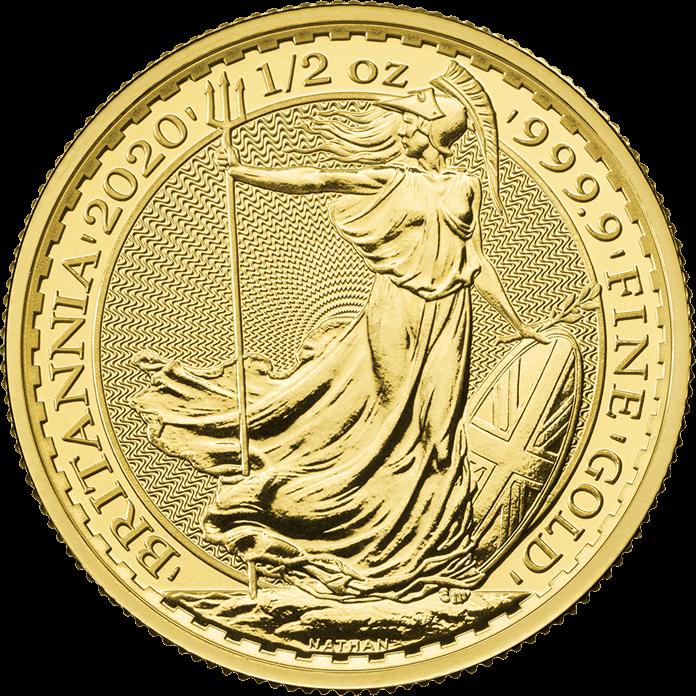Britannia 2020 1/2 oz Gold Coin