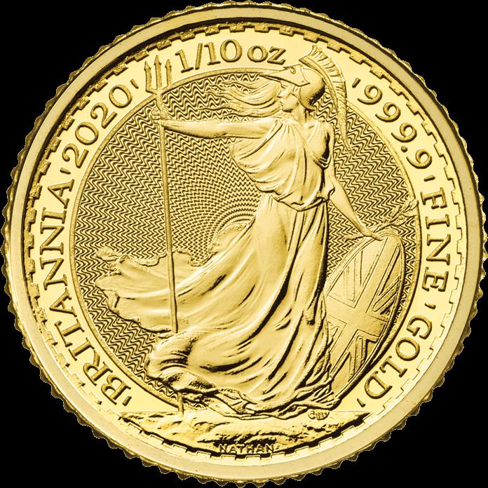 Britannia 2020 1/10 oz Gold Coin