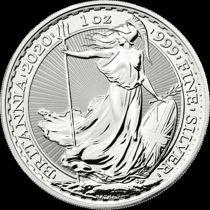 Britannia 2020 1 oz Silver Twenty Five Coin Tube
