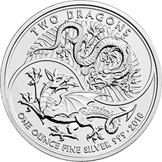 Two Dragons 2018 1 oz Silver Coin