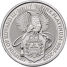 The Queen's Beasts 2018 The Griffin 1 oz Platinum Coin