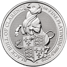 The Queen's Beasts 2019 Black Bull 1 oz Platinum Coin