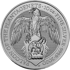 The Queen's Beasts 2020 Falcon 10 oz Silver Coin