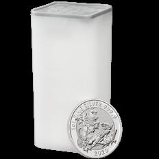 The Valiant 2020 Twenty Five Silver 1 oz Bullion Coin Tube