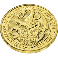 The Queen's Beasts 2017 The Dragon 1 oz Gold Ten Coin Tube