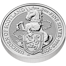 The Queen's Beasts 2018 The Unicorn 2 oz Silver Coin