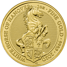 The Queen's Beasts 2020 White Horse of Hanover Gold 1 oz Bullion Coin