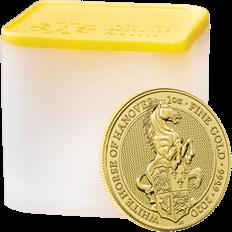 The Queen's Beasts 2020 White Horse of Hanover Ten Gold 1 oz Bullion Coin Tube